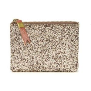 New Madewell The Leather Pouch Wallet Sahara Gold